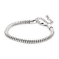 Silver tone chain bracelet