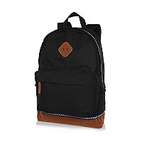 Black aztec trim backpack