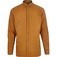 Mustard long sleeve Oxford shirt
