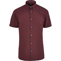 Red spotty short sleeve shirt