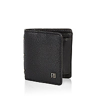 Black pebbled wallet