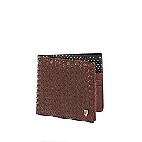 Brown embossed spot wallet
