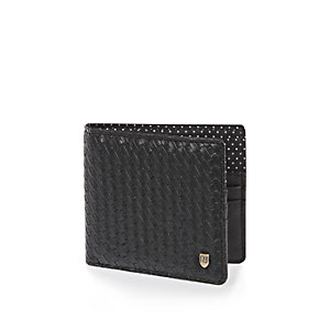 Black embossed spot wallet