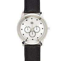 Black three dial watch