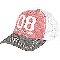 Red American Freshman 08 trucker cap