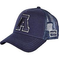 Navy American Freshman A trucker cap