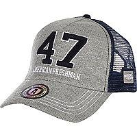 Grey American Freshman jersey 47 trucker hat