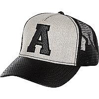 Grey American Freshman A trucker cap