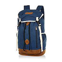 Blue canvas rucksack
