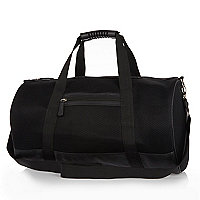 Black mesh holdall bag