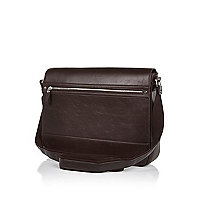 Brown structured flap over bag