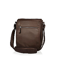 Brown small satchel bag