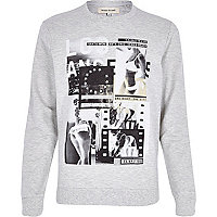 Grey LA girl print sweatshirt