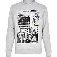 Grey LA girl print sweatshirt