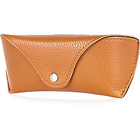 Brown popper sunglasses case