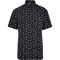 Black hourglass print short sleeve shirt