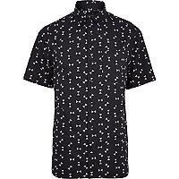 Black hourglass print short sleeve shirt