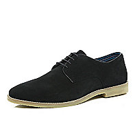 Black suede formal shoes