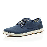 Navy flecked lace chunky sole trainers