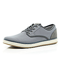 Grey flecked lace chunky sole trainers