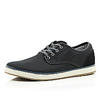 Black flecked lace chunky sole trainers