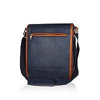 Navy small satchel bag