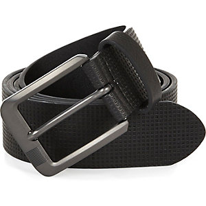 Black perforated sporty belt
