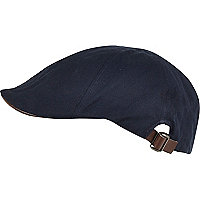 Navy flatcap hat