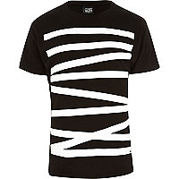 Black New Love Club linear t-shirt