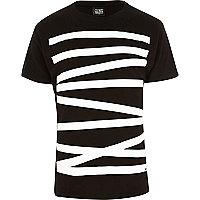 Black New Love Club linear t-shirt