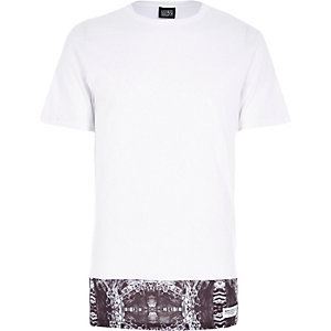 White New Love Club cut and sew t-shirt
