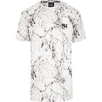 White New Love Club marble t-shirt