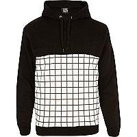 Black New Love Club grid hoodie