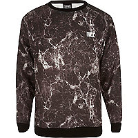 Black New Love Club marble sweatshirt