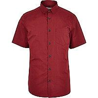 Red poplin shirt