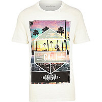 Ecru Long Beach Cali print t-shirt