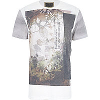 Ecru Holloway Road fauna print t-shirt