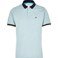 Blue Boxfresh logo chest polo shirt