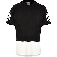 Black white Boxfresh split colour t-shirt