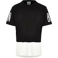 Black white Boxfresh split colour t-shirt