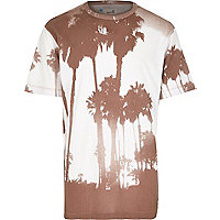 Grey Boxfresh photo palm tree print t-shirt