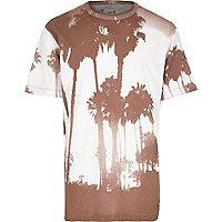 Grey Boxfresh photo palm tree print t-shirt