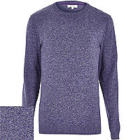 Purple flecked knitted jumper