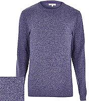 Purple flecked knitted jumper