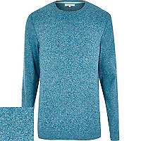 Turquoise flecked knitted jumper
