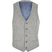 Grey contrast back waistcoat