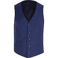 Navy blue button up waistcoat