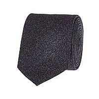 Purple melange tie