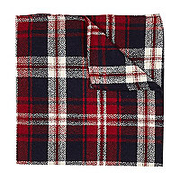 Red tartan pocket square