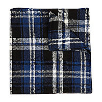 Blue tartan pocket square